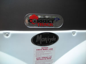 RV with Correct Track II decal