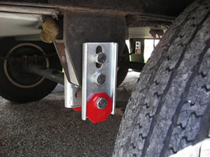 Driver Front - Red octagon cam in default position