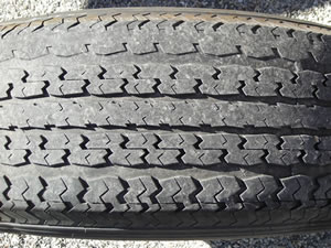 Another worn trailer tire