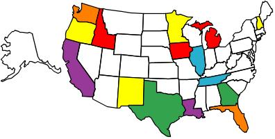 RV Friendly State map