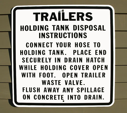 RV Holding Tank Disposal Instructions