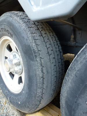 tire wear front passenger side
