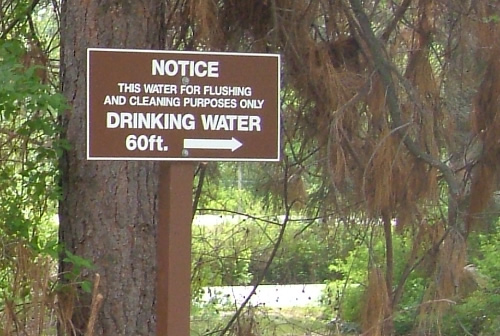 RV Drinking water / Potable Water sign